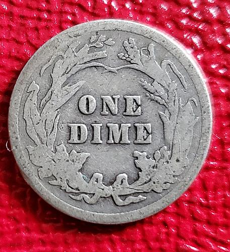 1912 - Barber Dime - Silver - 0159