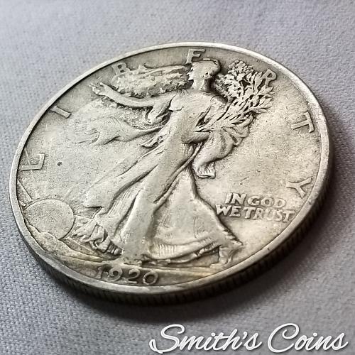1920 Walking Liberty Half Dollar ~ Fine