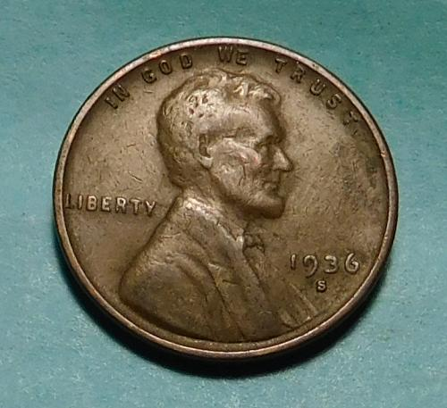 1936-S Lincoln Wheat Cent