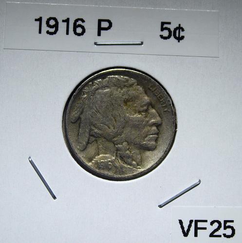 1916 P Buffalo Nickel