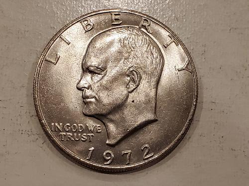 1972 Ike Dollar Type 1 MD Error