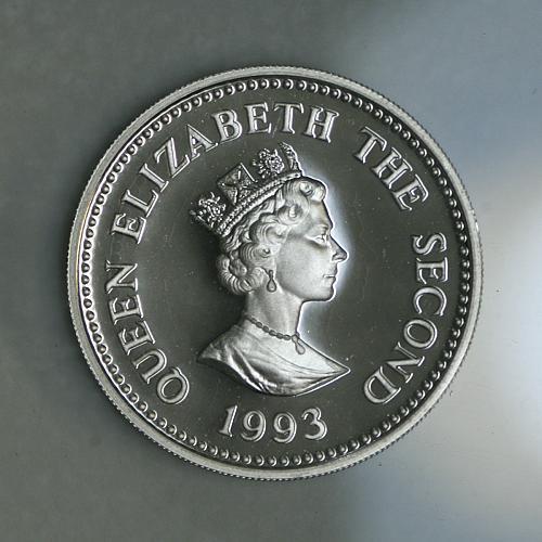 1993 Alderney £1 Coronation Anniversary Silver Proof in capsule