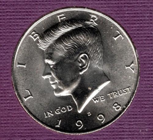 1998 D Kennedy Half Dollars -3