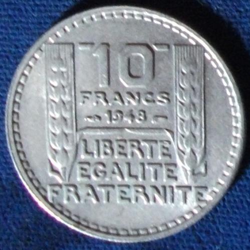 1948 France 10 Francs XF