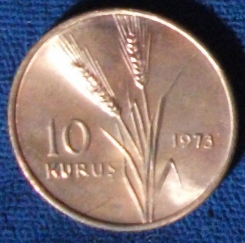 1973 Turkey 10 Kurus UNC