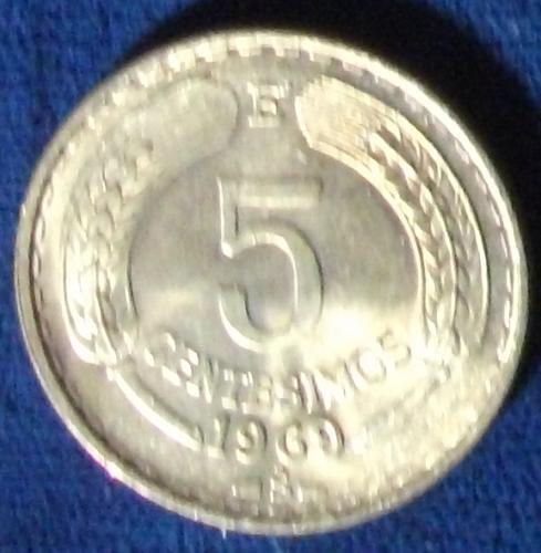 1969 Chile 5 Centesimos BU #2
