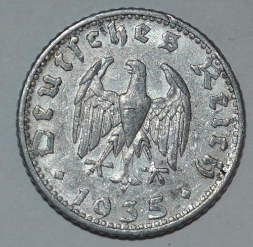 Germany 50 Reichspfennig 1935 D