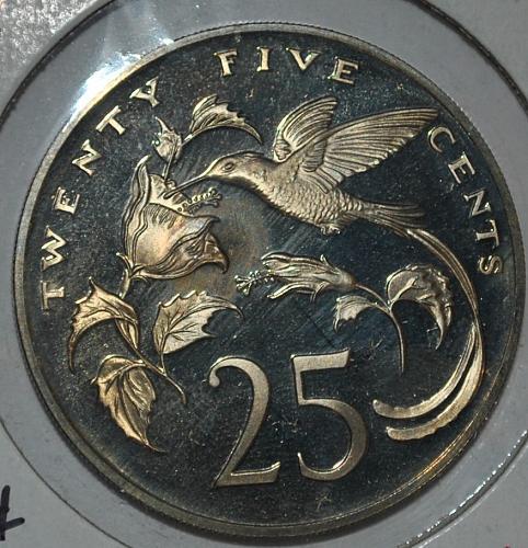 Jamaica 25 cents proof 1973
