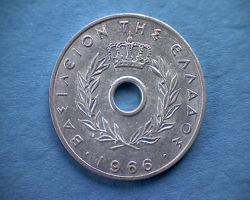 1966 GREECE TEN LEPTA