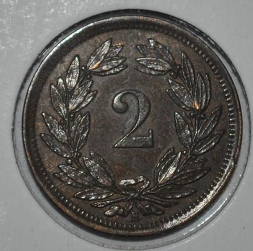 Switzerland 2 Rappen 1879 B (6203e)