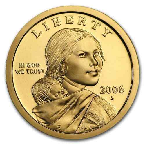 2006   S  PROOF  SACAGAWEA GOLDEN  DOLLAR