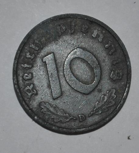 Germany 10 Reichspfennig 1941 D