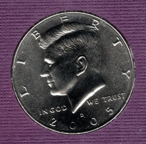 2005 D Kennedy Half Dollars -3