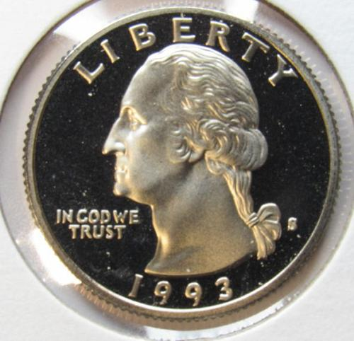 1993 S Washington Quarter Proof