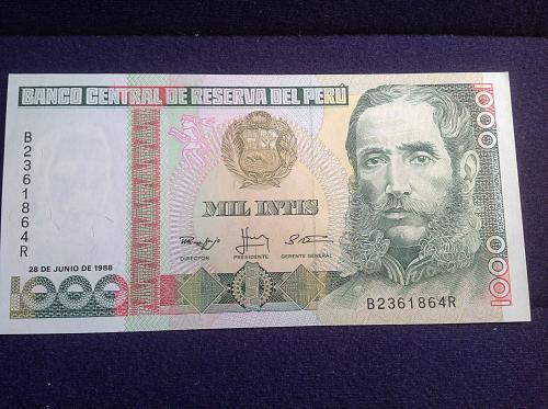 2-1988 Peru 1000 Mil Intis
