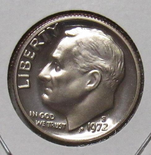 1972 S Proof Roosevelt Dime