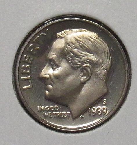 1989 S Proof Roosevelt Dime