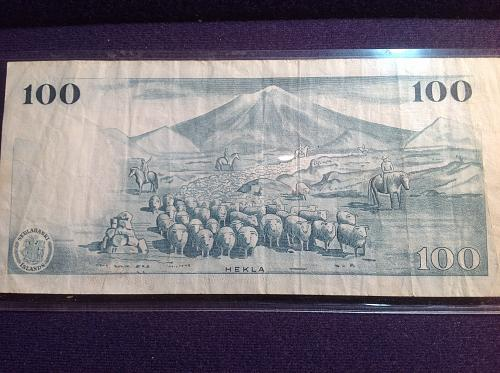 1961 Iceland 100 Kronor Note