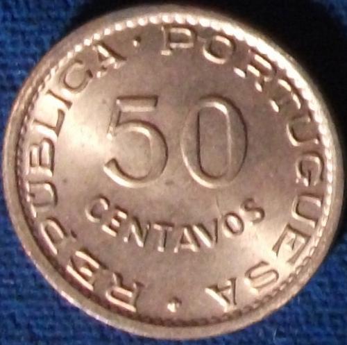 1970 Timor 50 Centavos BU