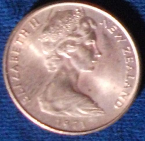 1971 New Zealand 2 Cents BU