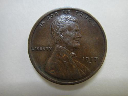 1917-D Lincoln Cent Extra Fine-40 SHARP Defintion For Date!