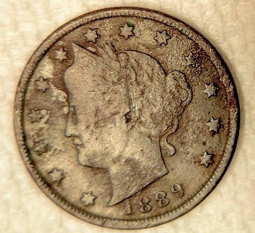 1889 Liberty V Nickel