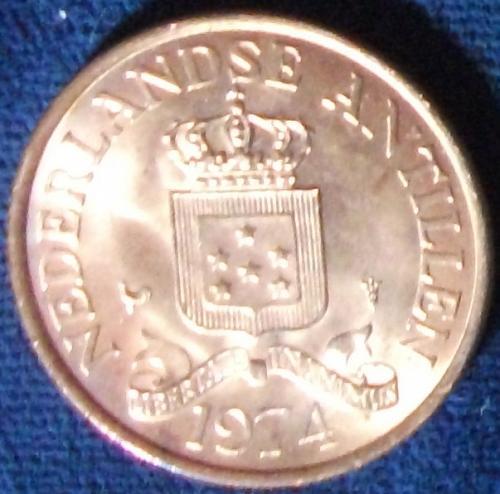 1974 Netherlands Antilles 2 1/2 Cents BU
