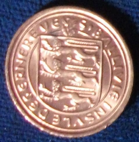 1971 Guernsey 1/2 New Penny BU