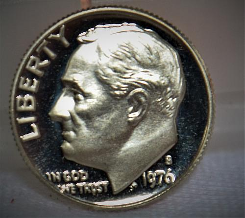 1976 S Roosevelt Dime Proof - Cameo