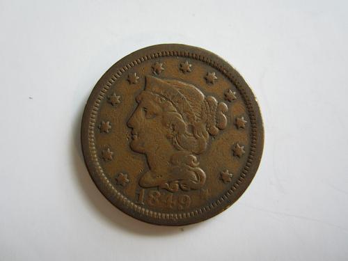 1849-P Braided Liberty Cent  STV-B#57