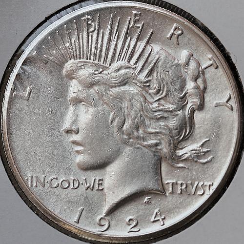 1924 S Peace Silver Dollar - Gem BU / MS / UNC