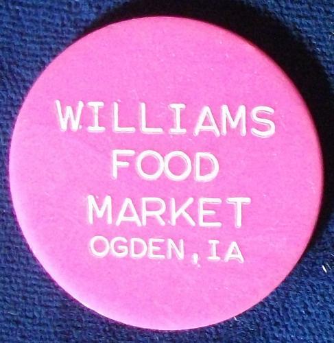 Williams Food Stamp Market, Odgen, Iowa, 50 Cents Food Stamp Credit