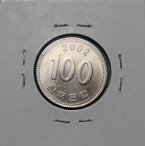 South Korea 2002 100 Won