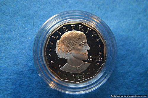 1999 P Susan B Anthony Dollars: Proof  Lowest minted SBA Dollar-DON'T MISS OUT!!