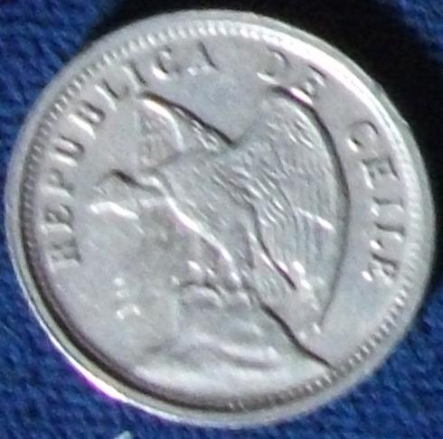 1928  Chile 5 Centavos VF