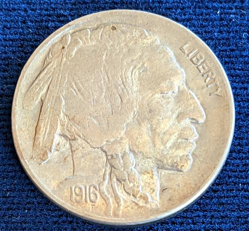 1916D CHOICE BU BUFFALO NICKEL