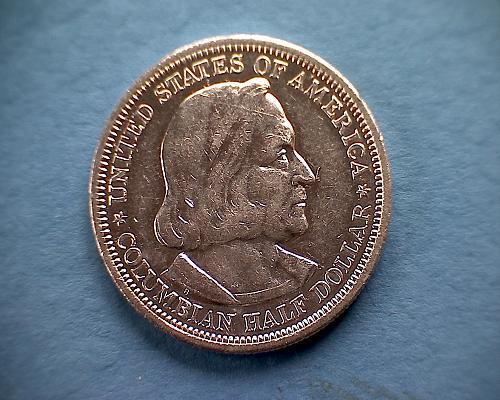1892 WORLD COLUMBIAN EXPOSITION HALF DOLLAR