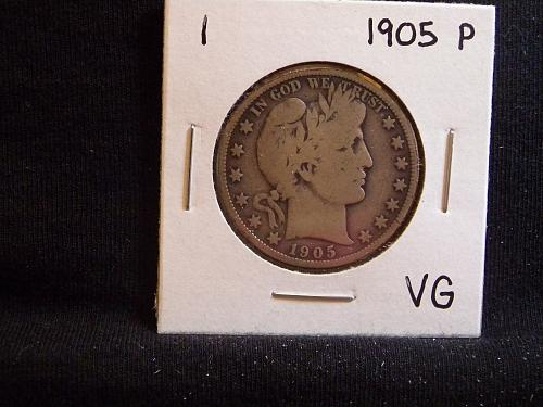 1905 P Barber Half Dollar