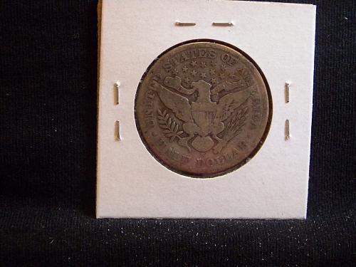 1908 S Barber Half Dollar