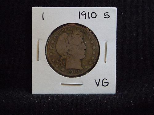 1910 S Barber Half Dollar