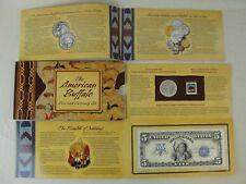 2001 American Buffalo Commemorative Coin with $5 Indian Chief Silver Certificate