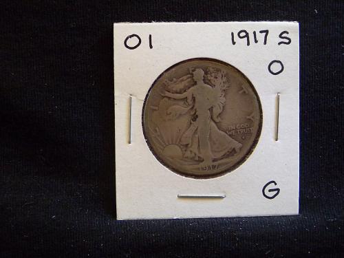 1917 S Walking Liberty Half Dollar - Obverse Mint Mark