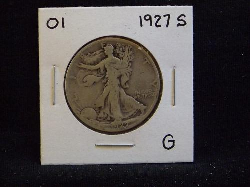 1927 S Walking Liberty Half Dollar