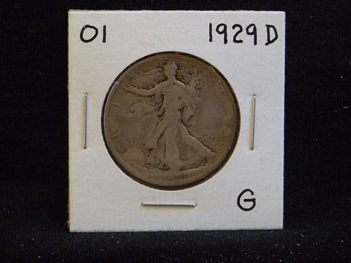 1929 D Walking Liberty Half Dollar