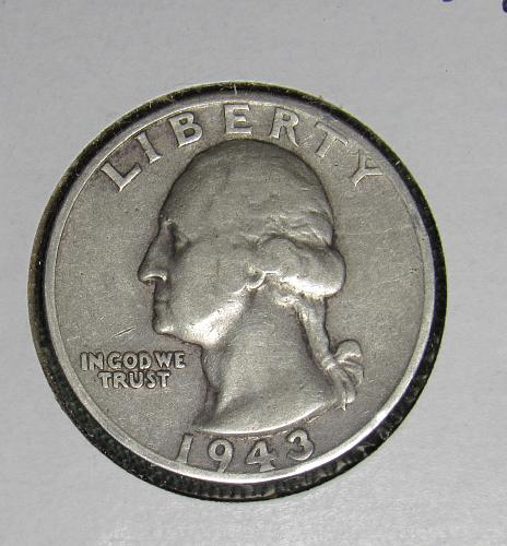1943S Silver Washingto Quarter