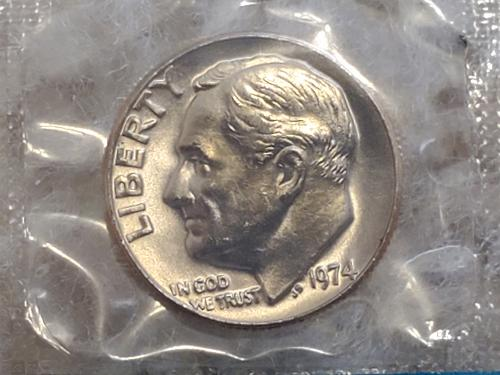 1974 Wrapped Dime