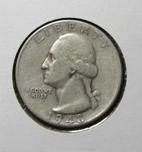 1948S Silver Washingto Quarter