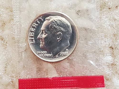 1981 Wrapped Dime