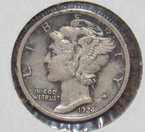 Mercury Dime: 1924 P
