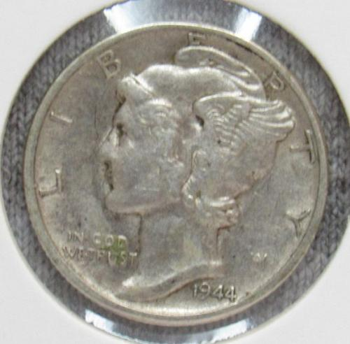 Set of three Mercury Dimes: 1945 D, P &1944 P